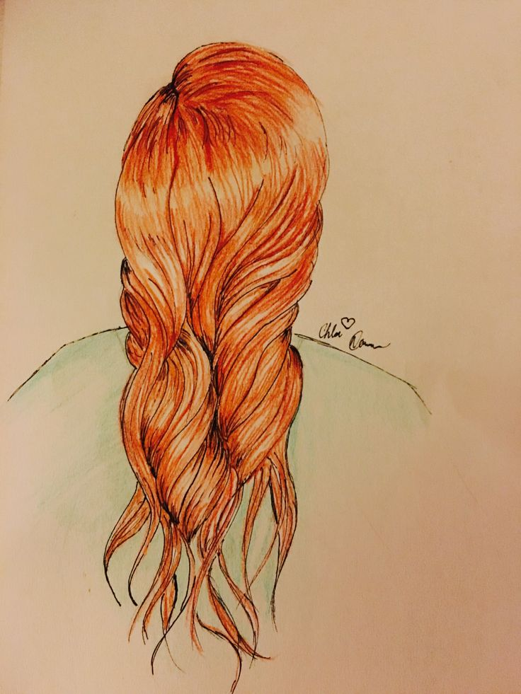 Red Fancy Hair #Art #artist #color #original #loveart