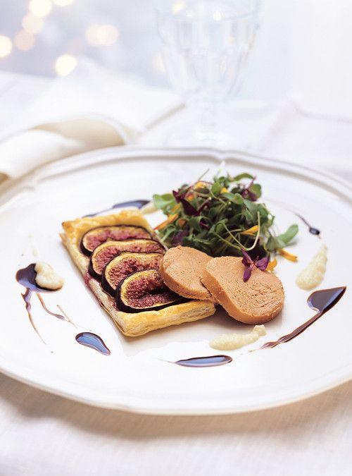 Tartes fines aux figues et au foie gras Recettes