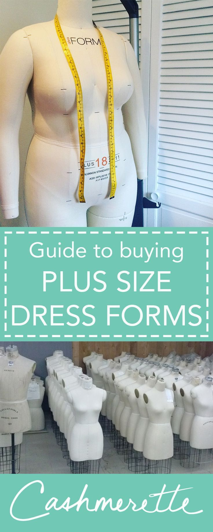 A guide to plus size dress forms for garment sewing by Cashmerette