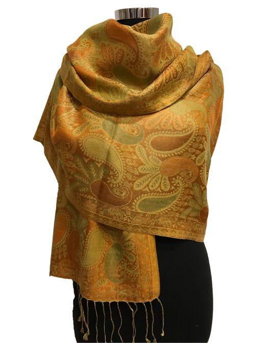 Silk / Pashmina Wool Wrap 036