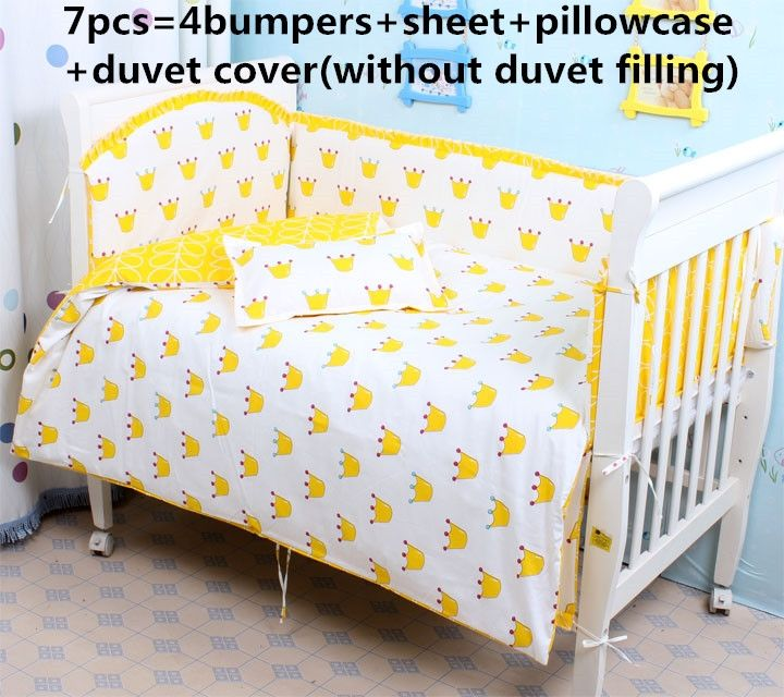 42.80$  Buy here - http://aiclu.worlditems.win/all/product.php?id=32462275125 - Promotion! 6/7PCS Hello Kitty baby bedding sets baby crib set ropa de cuna Comforter Cover cot sheet,120*60/120*70cm