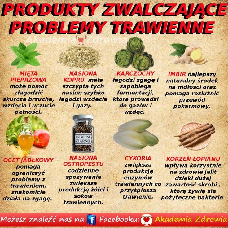 Produkty zwalczające problemy trawienne - Zdrowe poradniki