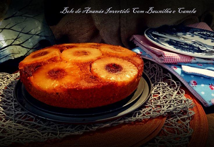 Este bolo é delicioso ou não fosse ele original de um dos chefes portugueses que mais admiro, nada mais do que Henrique Sá Pessoa.  Clique no link para ver todos os passos desta receita no blog.  http://cozinharomatica.blogspot.pt/2014/09/bolo-de-ananas-invertido-com-baunilha-e.html