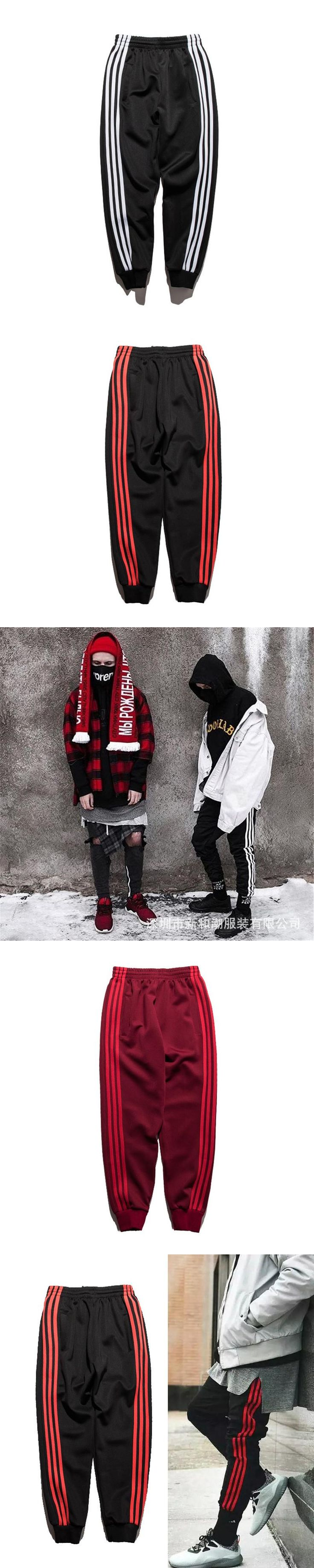 2017 Fashion BIG FOR SAM Three-stripes Jogger Pants Soft Material Casual Trousers Streetwear TXX Men Hip Hop Clothing Asian Size