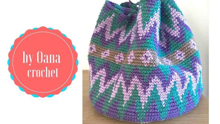 Tapestry crochet / Mochila like  bag- by Oana