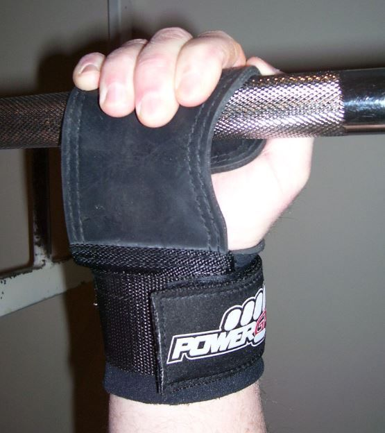 Power Grabs Lifting Grips Rubber Model on Bar Reverse Grip for Pulling Exercises