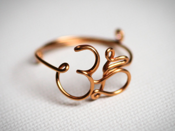 Aum Ring Om Ring Feel Calm Yoga Symbol Ring
