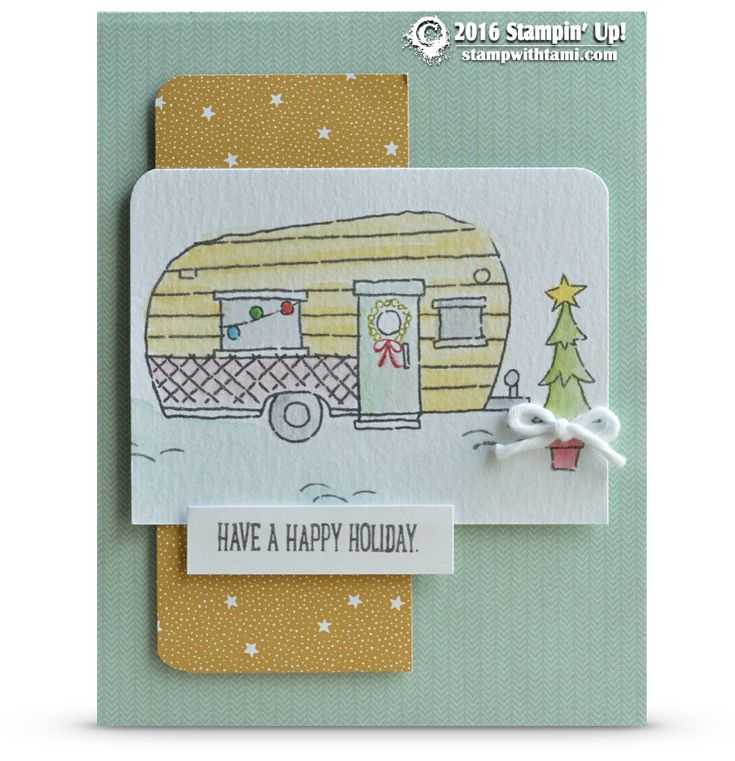 SNEAK PEEK: Glamper Greetings Camper Holidays | Stampin Up Demonstrator - Tami…