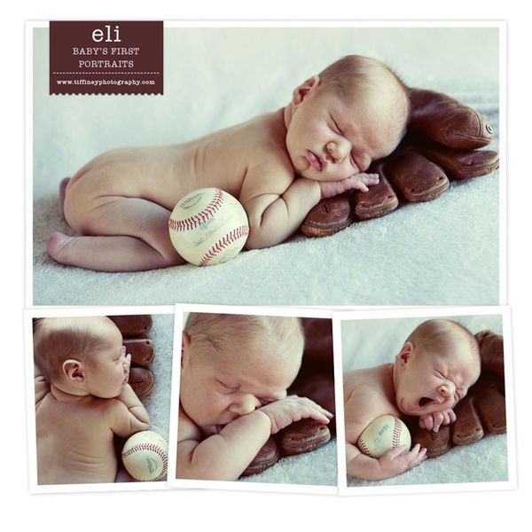 baseball newborn pics...put with daddys glove, ball, and bat. this will be my little boy, and do some with the utes football and my girls will have dance things and cheer things :)