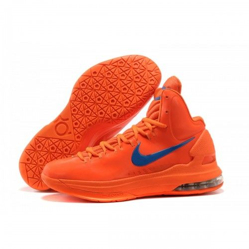 Sale Cheap Nike Zoom KD V 5 Creamsicle Orange Logo Blue Basketball Shoes  Sports Shoes Store