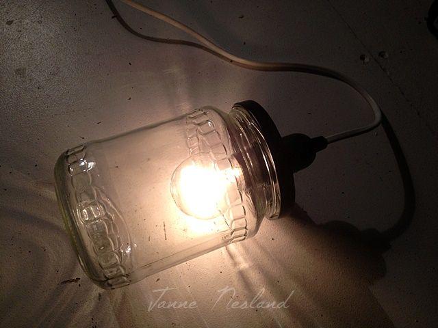 Jannes kreative verden: DIY - Lampe av et syltetøyglass:)