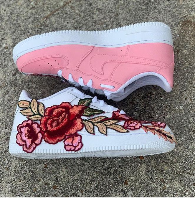 Chaussures Air Force one custom « floral » | Nike air force ...