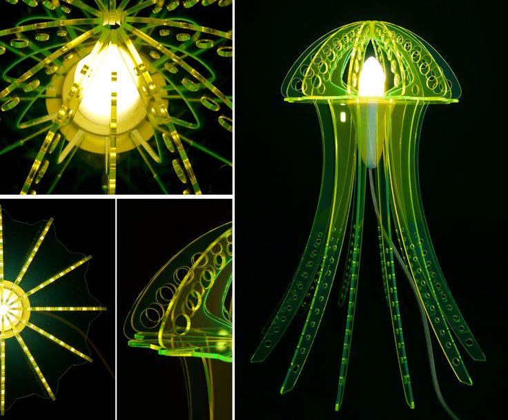 Green MEDUZA light with some details