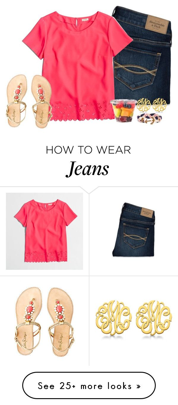 """""""No lacrosse today."""" by keileeen on Polyvore featuring Abercrombie & Fitch, J.Crew, Lilly Pulitzer, Allurez and Brooks Brothers"""