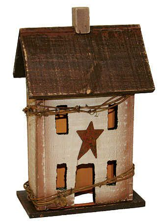 "free images to make saltbox houses | 12"" Primitive Electric Saltbox House Candle Lamp"
