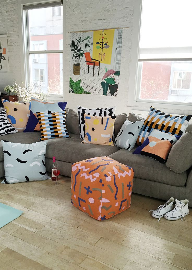 Throw Pillows Poofs From Dusen Dusen Click Through To Shop The Whole Collection Of Poofhome Goodsthrow Pillows