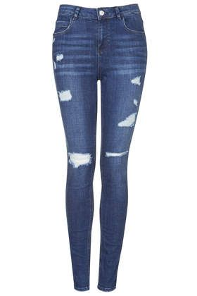 MOTO Authentic Ripped Skinny Jeans - Jeans - Clothing