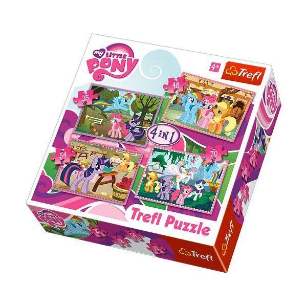 1700 Én kicsi pónim: 4 az 1-ben gyermek puzzle