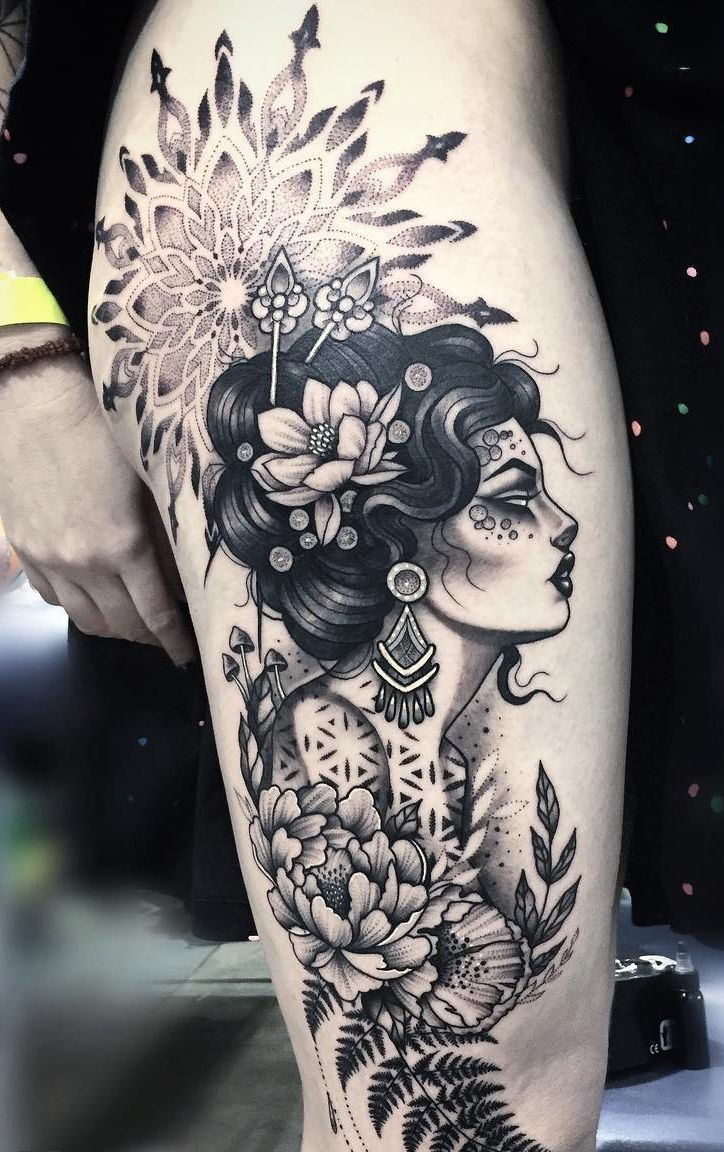 Awesome Mandala Tattoo C Tattoo Artist Mil Et Une In 2020 Tattoos Leg Tattoos Tattoo Designs For Girls