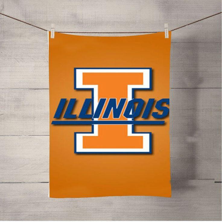 Illinois Orange Bath Towel Beach Towels