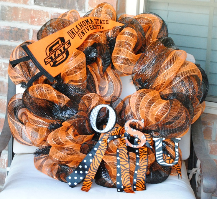 Oklahoma State WreathPistols Pete, Football Seasons, Oklahoma States, Osu Cowboy, States Wreaths, Wreaths Osu, Wreaths Ideas, Osu Wreaths, Osu Stuff