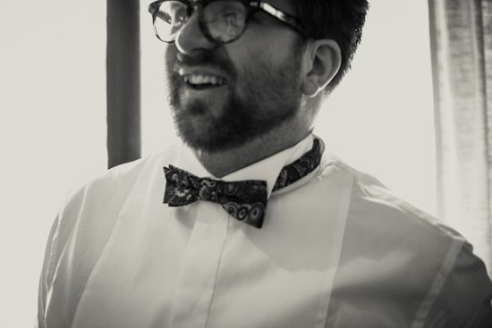 Hanae and Dominic's Japanese Inspired Country Wedding, Dom wears Charlie Tinker Bespoke Bowtie