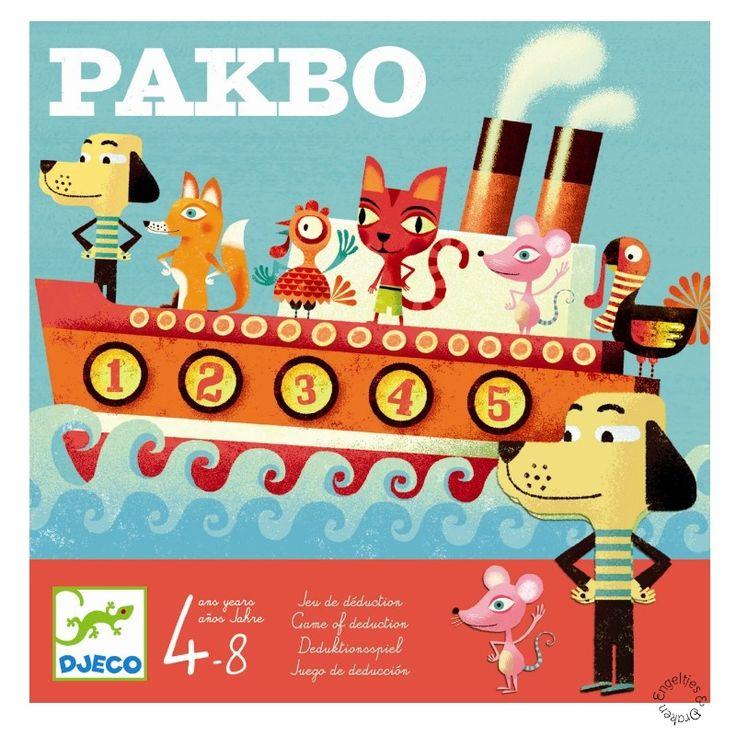 Pakbo van Djeco is een leuk onderzoekspel voor kinderen vanaf 4 jaar. Stel vragen en zoek uit waar welke passagier in de boot van je tegenstander zit.