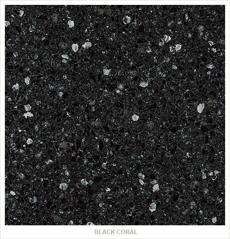 black quartz countertops | REALIZATIONS MADE WITH Black Coral