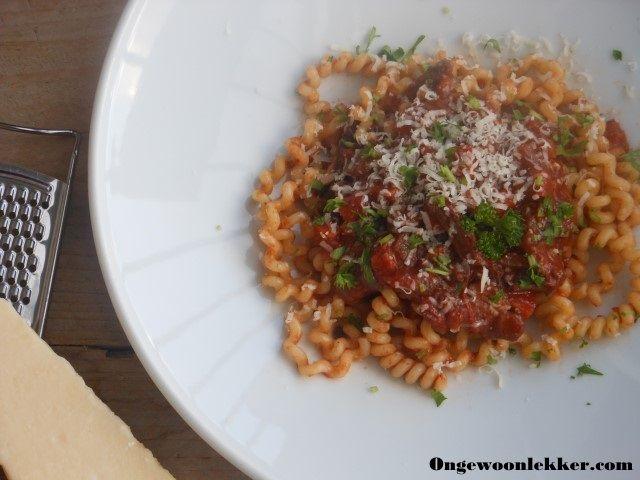 Wild zwijn ragout met pasta / Wild Boar Ragu with pasta  - recept - recipe