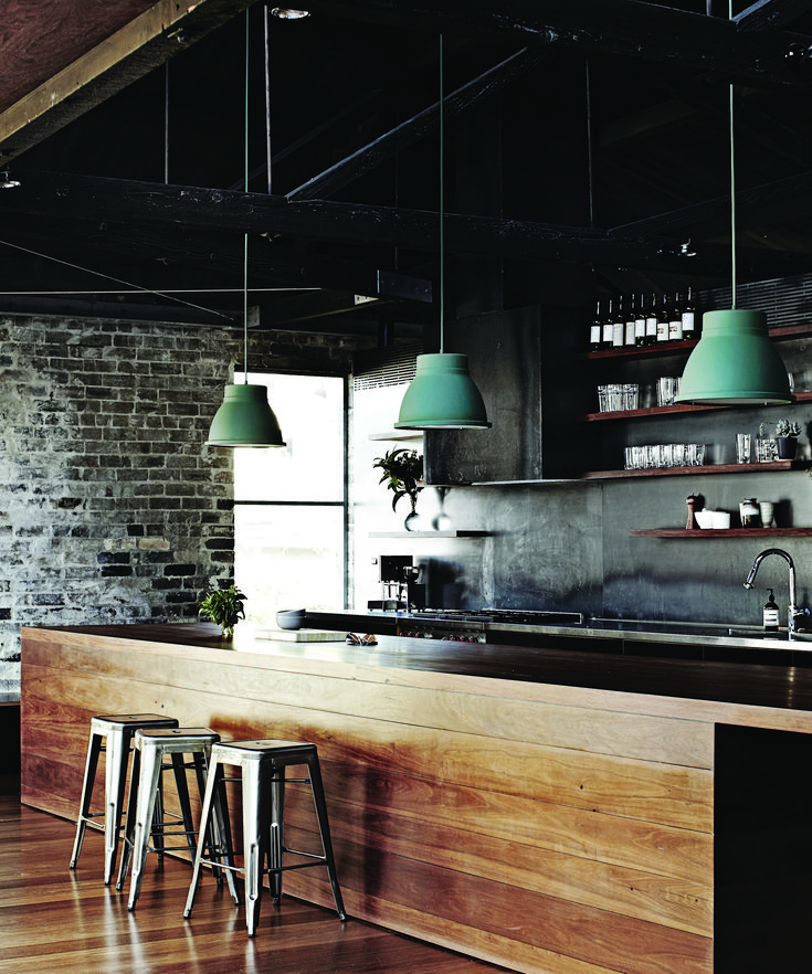 I just love the colours, exposed brick & the timber island bench. Everything just goes :)