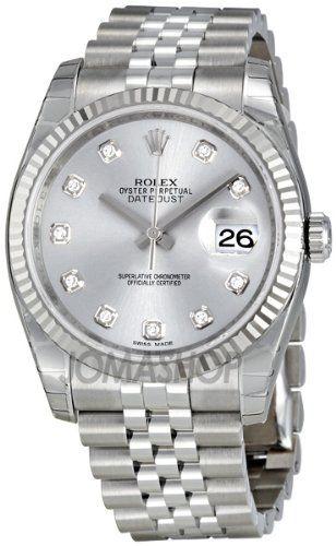 17 best images about elegant rolex watches brad rolex datejust rhodium diamond dial 18kt white gold fluted mens watch 116234rdj