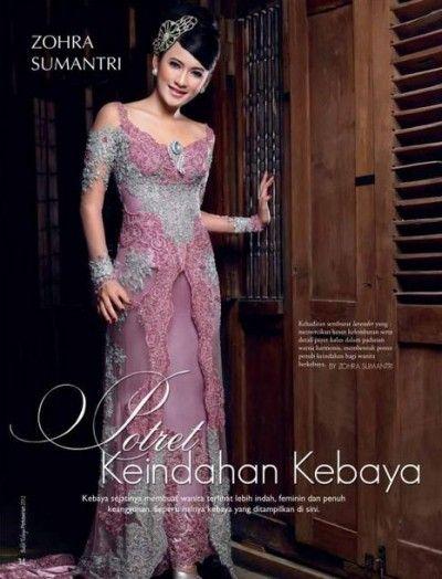Foto Baju Kebaya Pengantin Modern Zohra Sumantri Terbaik 2015