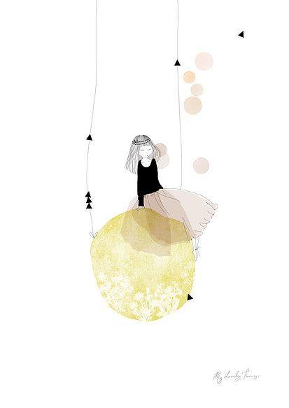 blanc ~ petite louise ~ lune