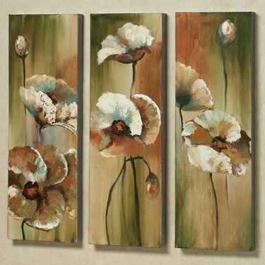 Meadow Dance Poppies Canvas Art Set
