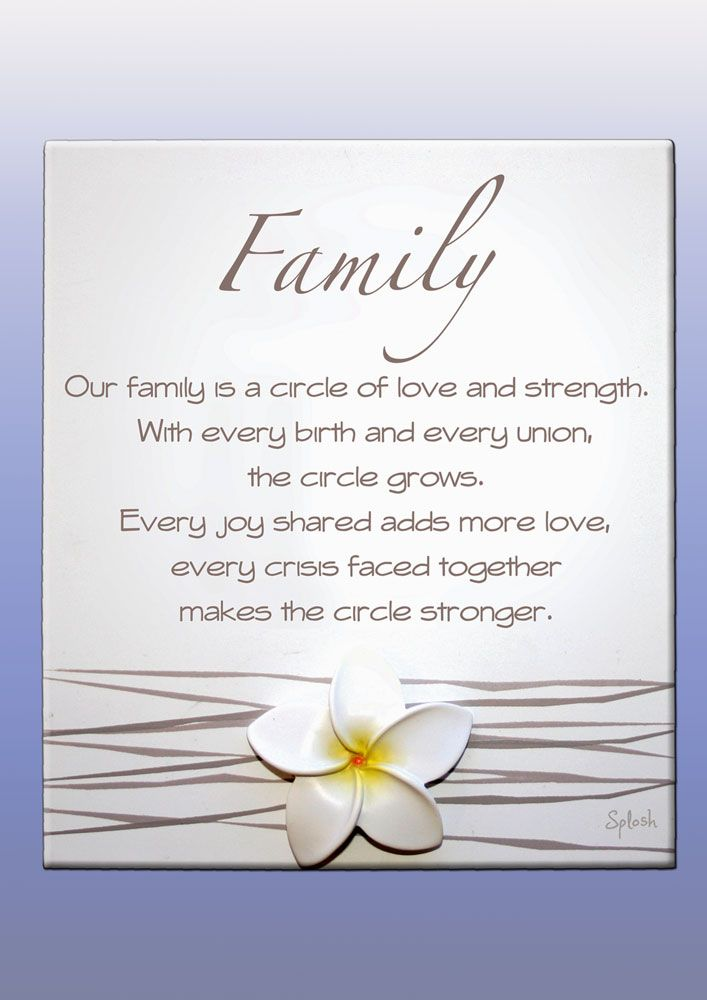 Frangipani Family Poem Plaque. A Gorgeous gift full of meaning this Family poem plaque from the Frangipani range by Splosh UK.