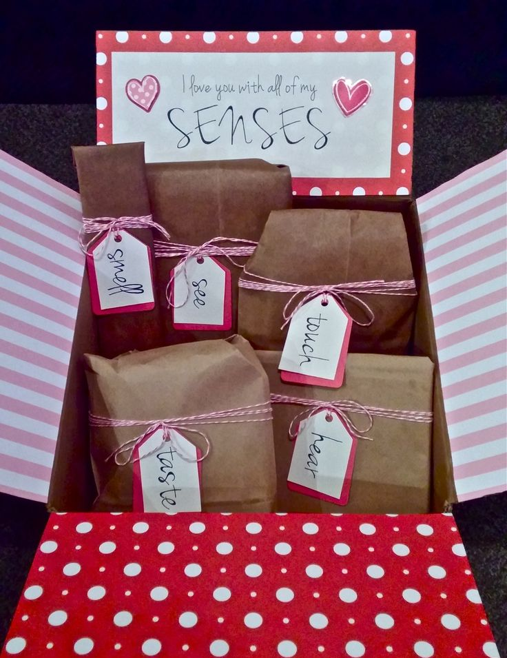 I Love You With All Of My SENSES 5 Senses Valentines Gift