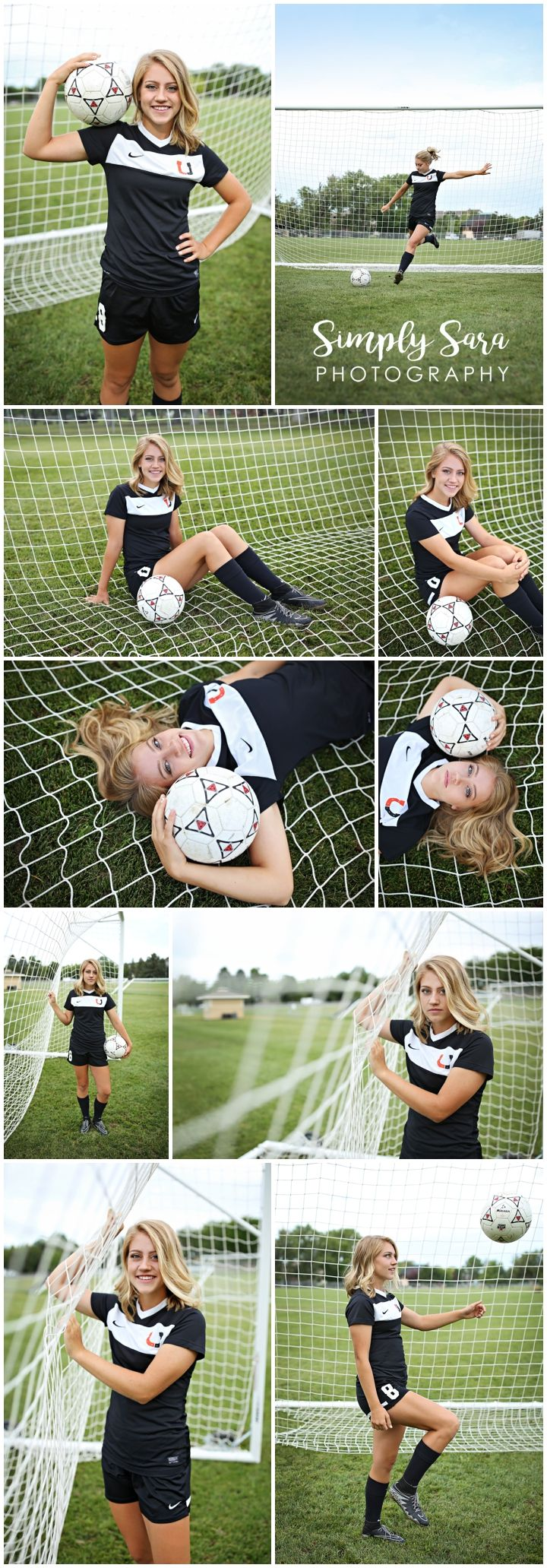Senior Portrait Photos & Poses for Girls - Outdoor Photo Shoot - Grassy Field - Soccer - Sports - Billings, MT High School Senior Portrait Photographer