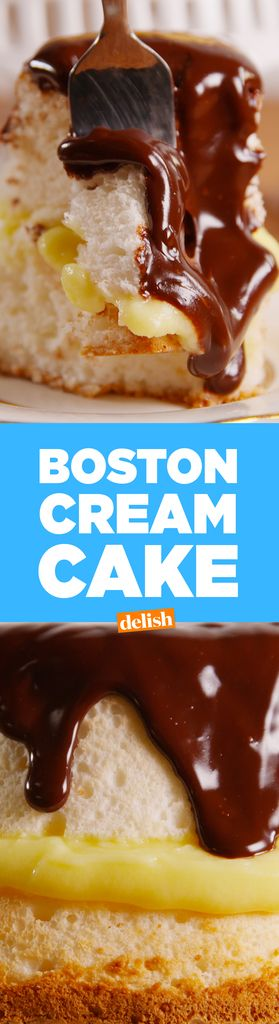 This Boston Creme Angel Food Cake Is Heaven-Sen