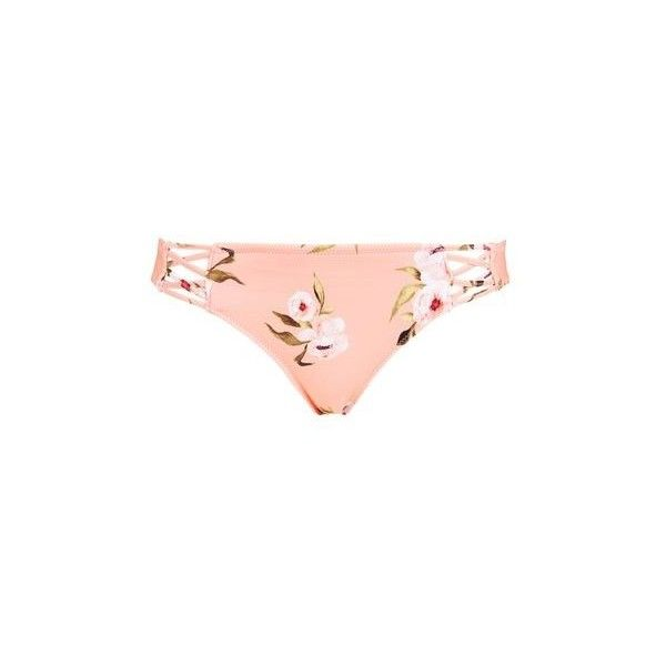 TopShop Posie Pink Bikini Bottoms (465 ARS) ❤ liked on Polyvore featuring swimwear, bikinis, bikini bottoms, pink, bikini swimwear, pink bikini bottoms, topshop swimwear, bikini swim wear and bikini beachwear