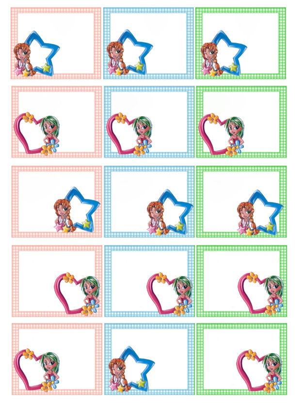 il mio angolo creativo: Etichette scuola per bambine