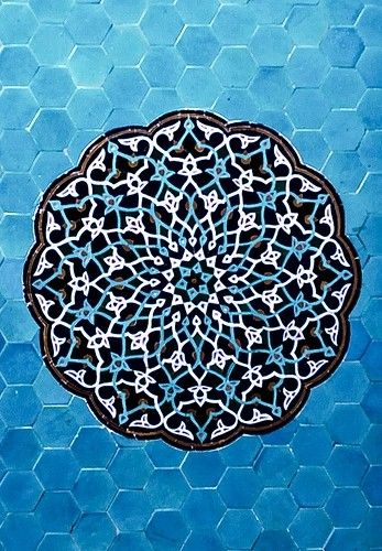 Being Jewish, I am fascinated by how the intricate designs of mosaics form the star of david in the center of the patterns