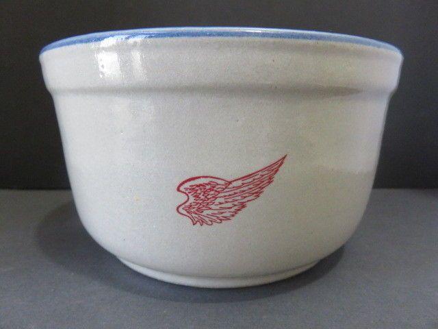 Red Wing Stoneware Co. Red Wind, Minn Blue Rim Crock/Bowl  #RedWing