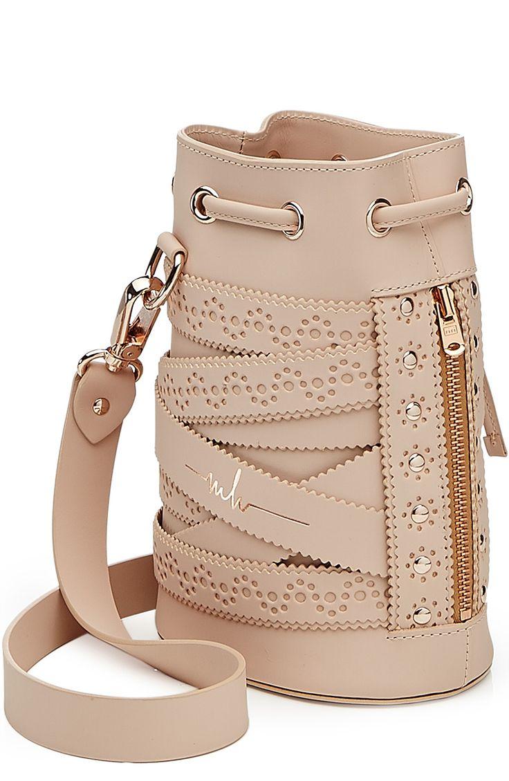 Kasper Cookie Leather Shoulder Bag detail 2