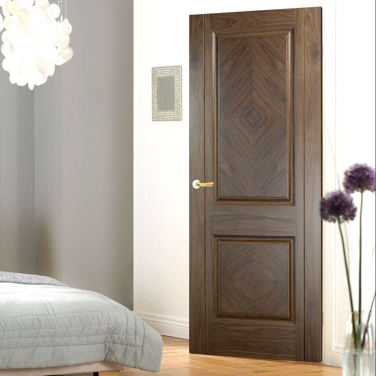 Madrid Walnut Veneer Door with Lacquer Pre-Finishing. #madritdoor #walnutdoor #madritwalnutdoor