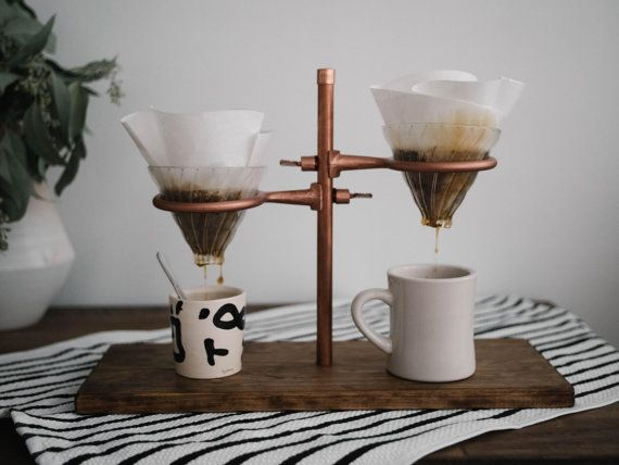 Double Pour Over Coffee Stand – Copper