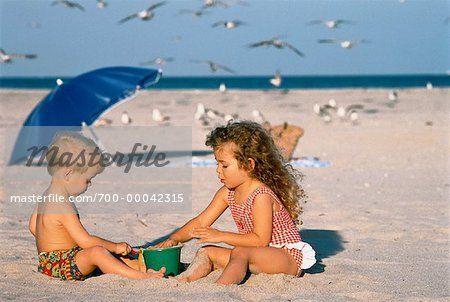 boy and girl swim wear