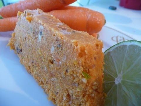 Gâteau bûche aux carottes 100% cru