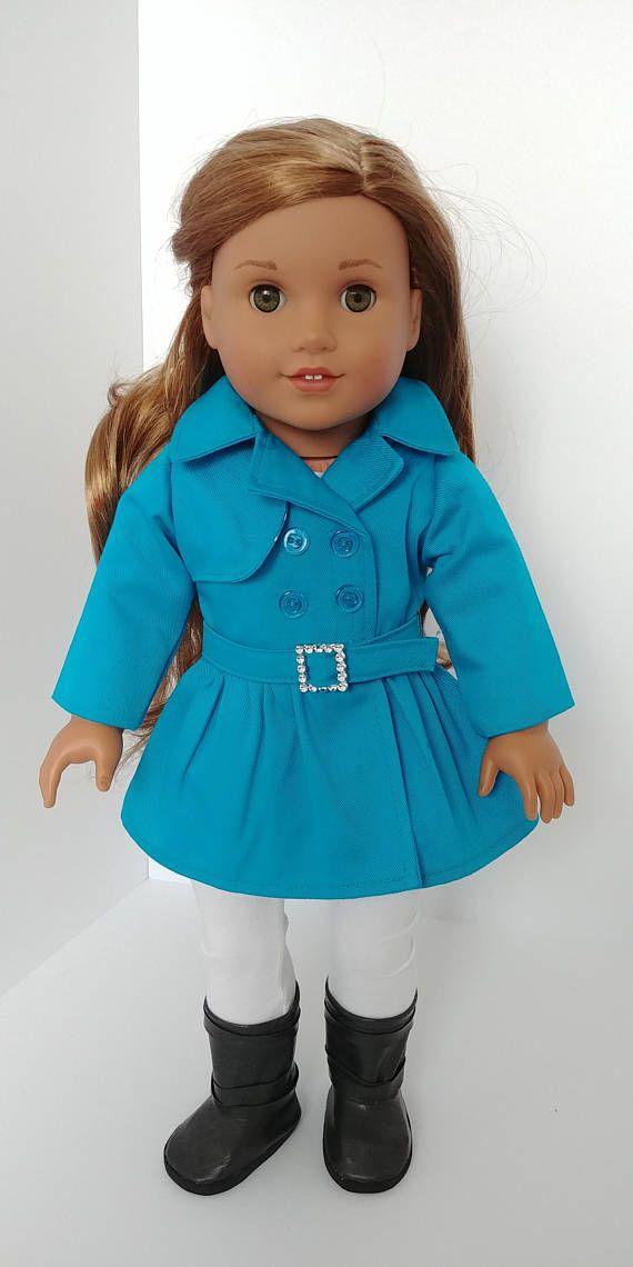 18 inch doll jacket. American girl doll clothing. 18 inch Doll
