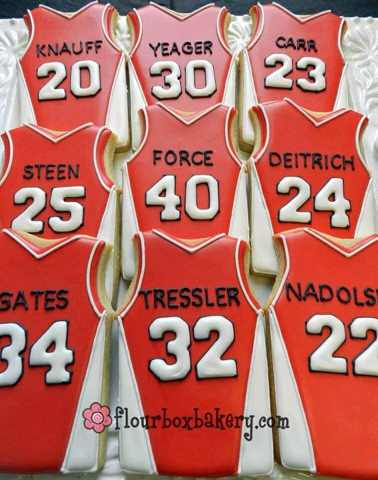 Basketball jersey sugar cookies                                                                                                                                                     More