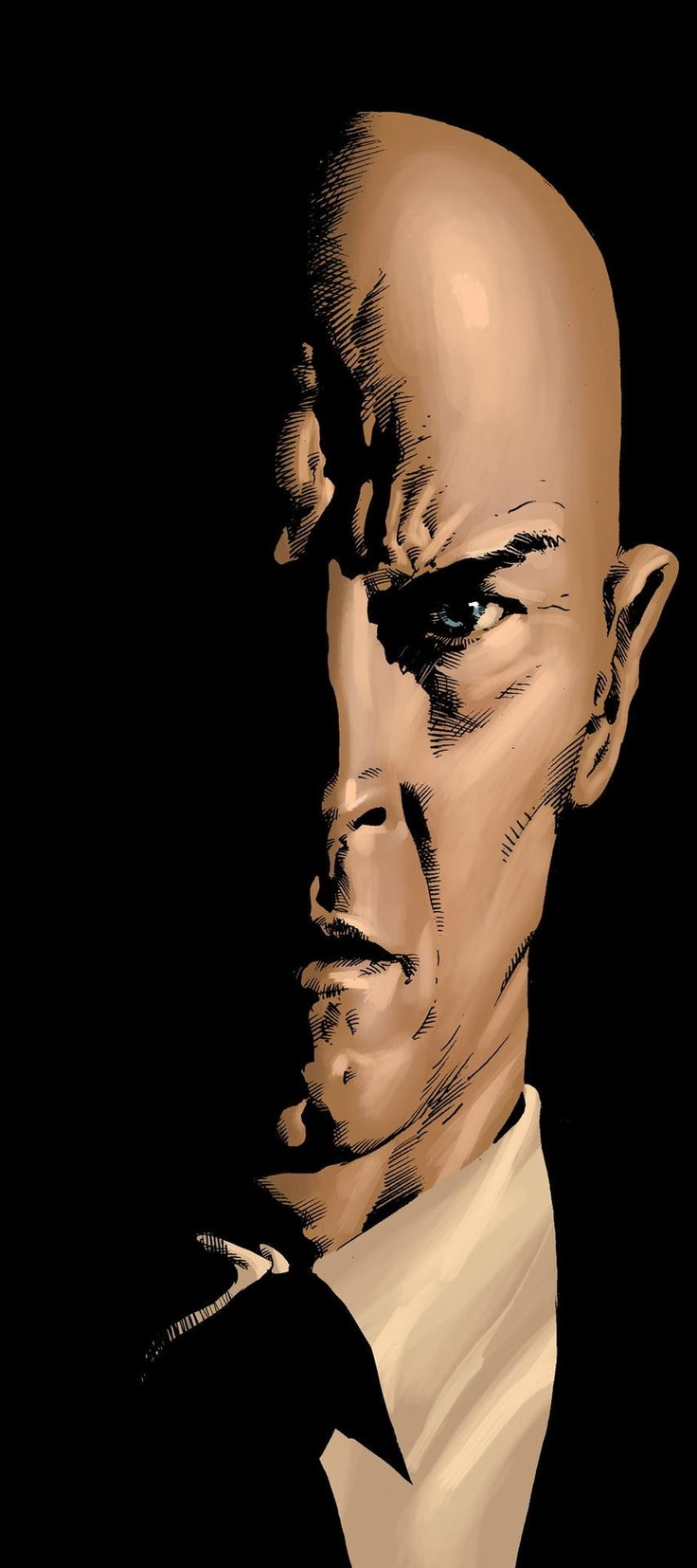 Professor X by Mike Deodato Jr. Colors by Rain. (Charles Francis Xavier) a paraplegic, know as the founder of the X-men.  As a high-level telepath, Xavier can read, control, and influence human minds. A scientific genius, he is also a leading authority on genetics, mutation, and psionic powers. His dream of peaceful coexistence between mutants and humanity has long been the driving force for the X-Men.